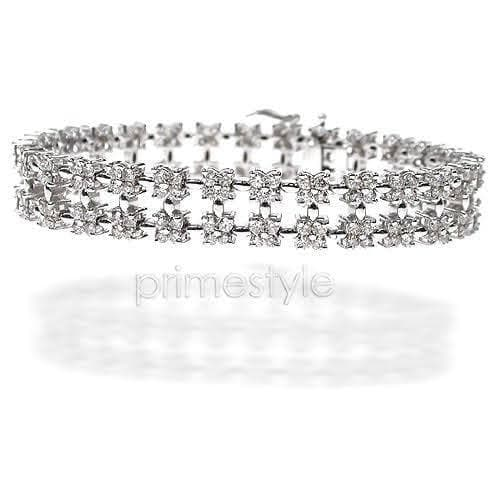 8.00-8.00 CT Round Cut Diamonds - Diamond Bracelet