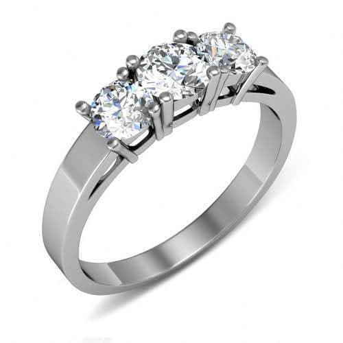 0.50 CT Round Cut Diamonds - Three Stone Ring