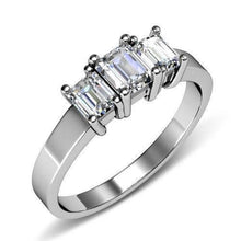 Load image into Gallery viewer, 1.10 CT Emerald Cut Diamonds - Three Stone Ring