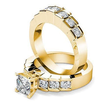 Load image into Gallery viewer, Bridal Sets 2.20-3.35CT Round & Princess Cut Diamonds