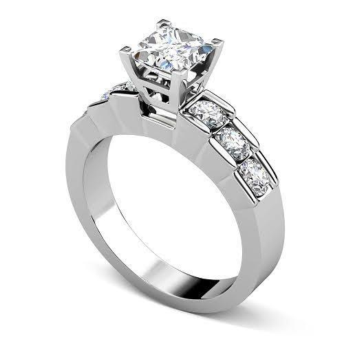 1.20-2.35 CT Round & Princess Cut Diamonds - Engagement Ring