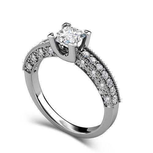 0.95-2.10 CT Round & Princess Cut Diamonds - Solitaire Ring