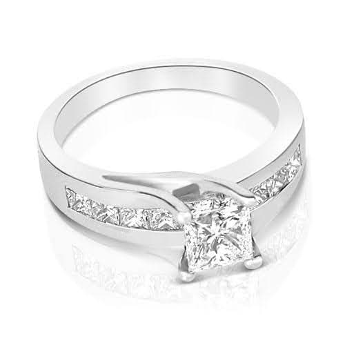1.55-2.70 CT Princess Cut Diamonds - Engagement Ring