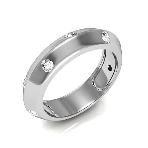 0.80 CT Round Cut Diamonds - Mens Wedding Band