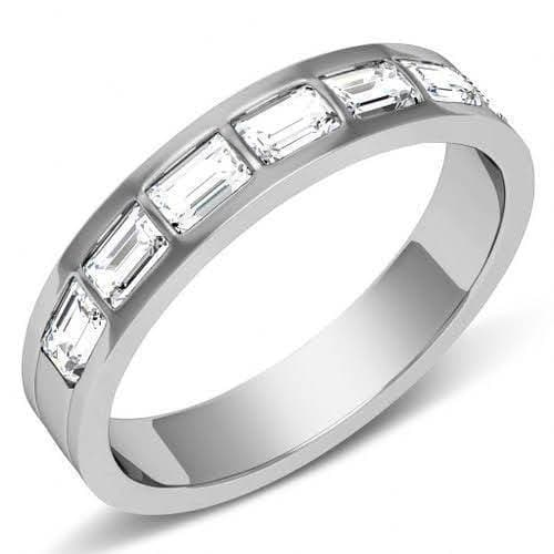 1.50 CT Emerald Cut Diamonds - Mens Wedding Band