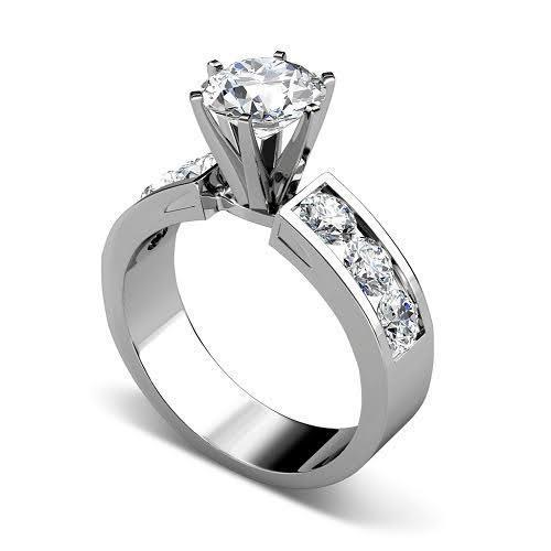 1.85-3.00 CT Round Cut Diamonds - Engagement Ring