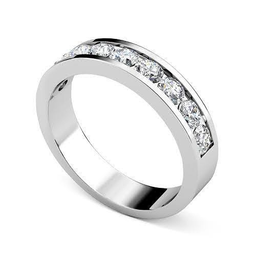 1.35 CT Round Cut Diamonds - Wedding Band