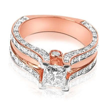 Load image into Gallery viewer, 1.45-2.60 CT Round & Princess Cut Diamonds - Engagement Ring
