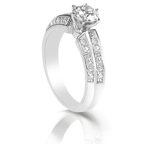0.95-2.10 CT Round Cut Diamonds - Engagement Ring