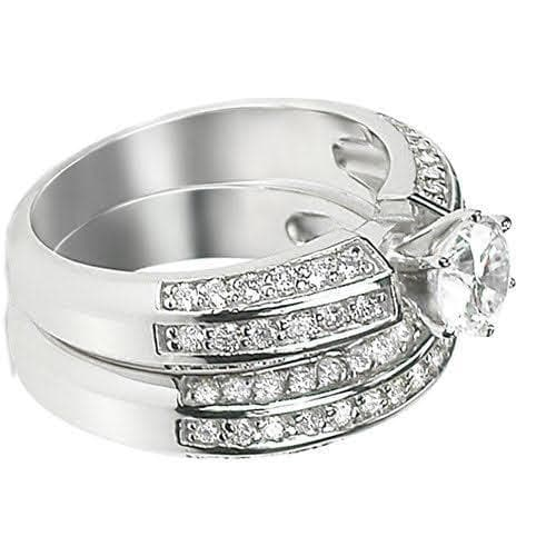 Bridal Sets 1.95-3.10CT Round Cut Diamonds