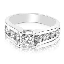 Load image into Gallery viewer, 1.15-2.30 CT Princess Cut Diamonds - Engagement Ring