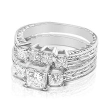 Load image into Gallery viewer, Bridal Sets 1.90-3.05CT Princess Cut Diamonds