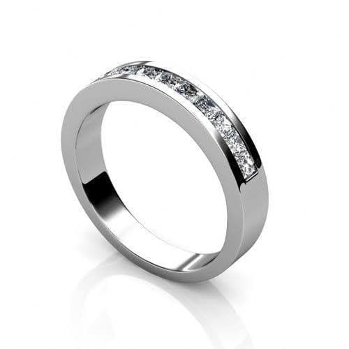 1.10 CT Princess Cut Diamonds - Wedding Band
