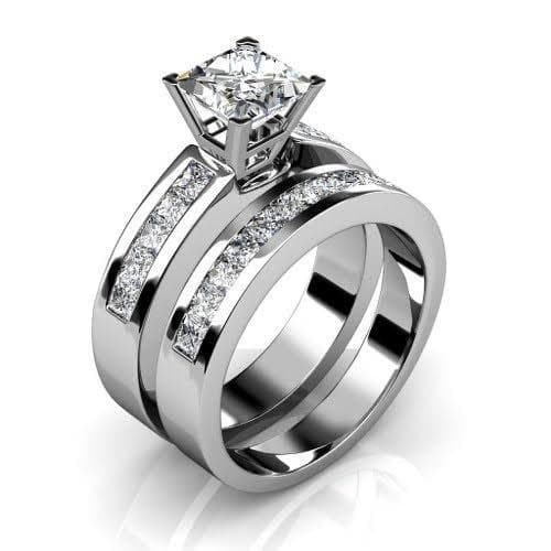 Bridal Sets 2.15-3.30CT Princess Cut Diamonds