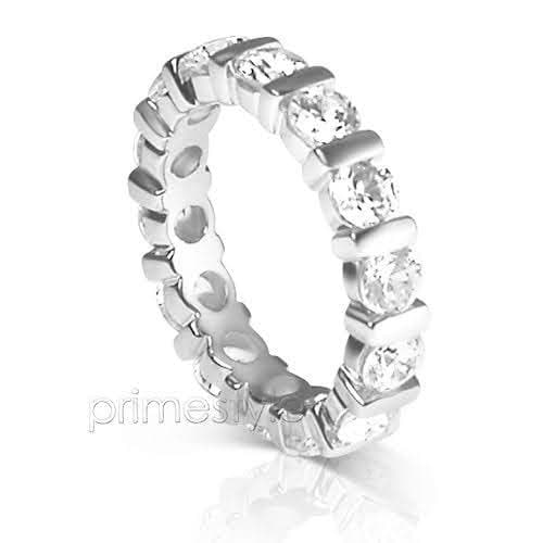3.00 CT Round Cut Diamonds - Eternity Ring