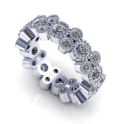 1.70 CT Round Cut Diamonds - Eternity Ring