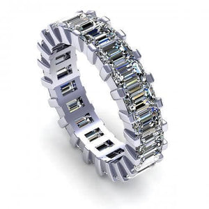 5.20 CT Emerald Cut Diamonds - Eternity Ring