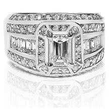 Load image into Gallery viewer, 2.05-3.20 CT Round & Emerald Cut Diamonds - Engagement Ring