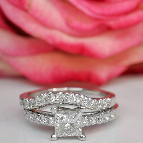 Bridal Sets 0.90-2.05CT Round & Princess Cut Diamonds