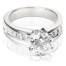 Load image into Gallery viewer, 1.25-2.40 CT Princess & Round Cut Diamonds - Engagement Ring