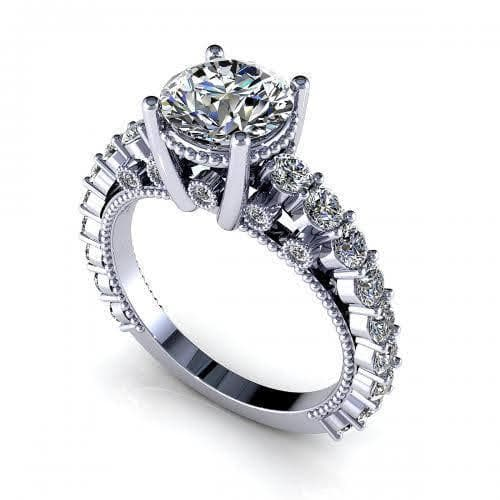 2.05-3.20 CT Round Cut Diamonds - Engagement Ring