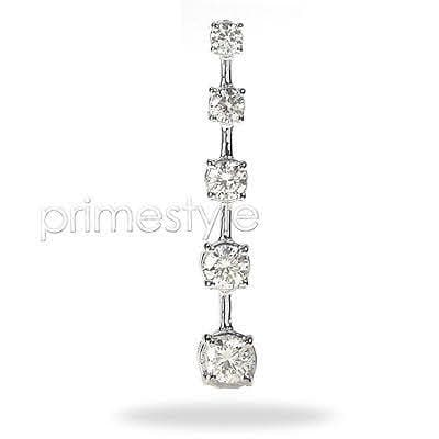 1.10 CT Round Cut Diamonds - Journey Pendant
