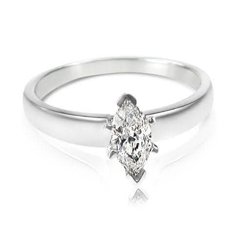 0.35-1.50 CT Marquise Cut Diamonds - Solitaire Ring