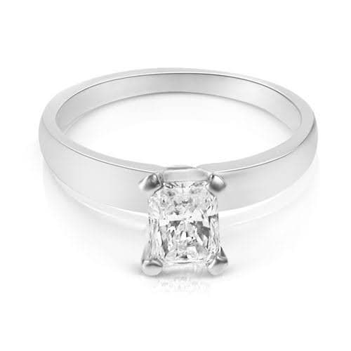 0.35-1.50 CT Radiant Cut Diamonds - Solitaire Ring