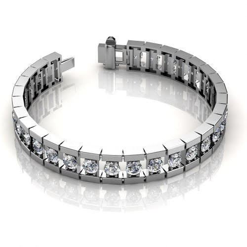 2.00-3.00 CT Round Cut Diamonds - Diamond Bracelet