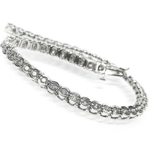 2.00-3.00 CT Round Cut Diamonds - Tennis Bracelet