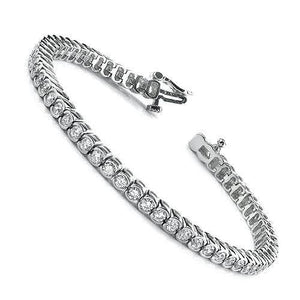 2.00-6.00 CT Round Cut Diamonds - Tennis Bracelet