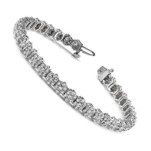 4.50-4.50 CT Round Cut Diamonds - Tennis Bracelet