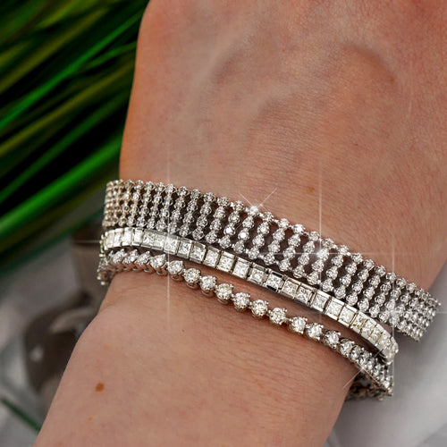 5.70-9.00 CT Round Cut Diamonds - Diamond Bracelet