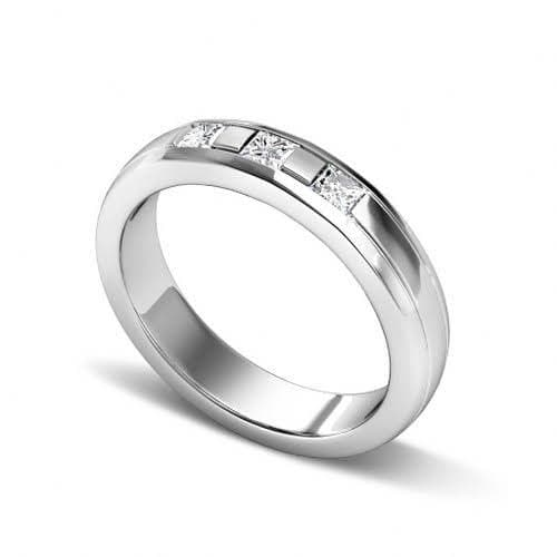0.25 CT Princess Cut Diamonds - Wedding Band