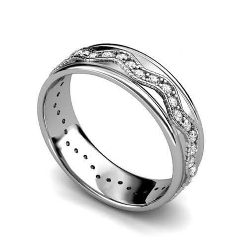 1.50 CT Round Cut Diamonds - Mens Wedding Band