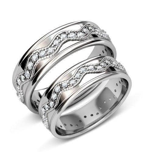 2.50 CT Round Cut Diamonds - Wedding Set