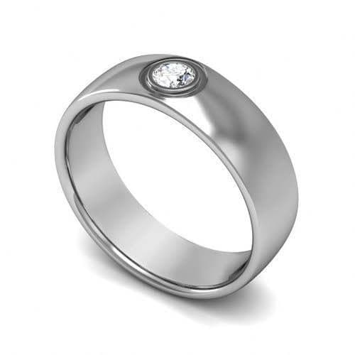 0.70 CT Round Cut Diamonds - Mens Wedding Band