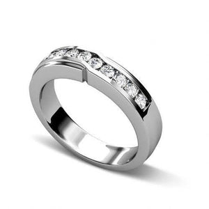 0.40 CT Round Cut Diamonds - Wedding Band