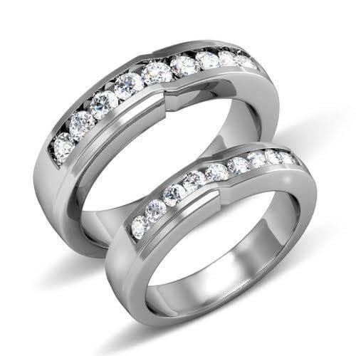 1.05 CT Round Cut Diamonds - Wedding Set