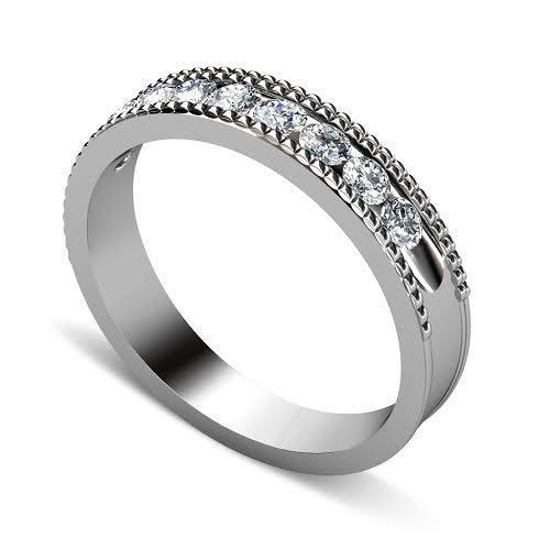 0.55 CT Round Cut Diamonds - Mens Wedding Band