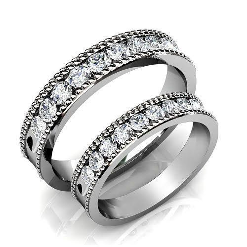1.00 CT Round Cut Diamonds - Wedding Set
