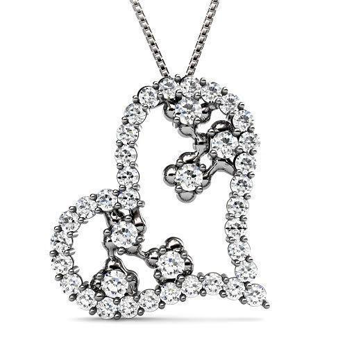 1.30 CT Round Cut Diamonds - Heart Pendant