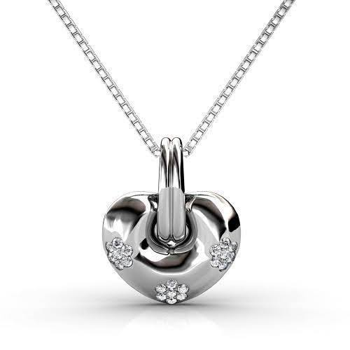 0.35 CT Round Cut Diamonds - Heart Pendant