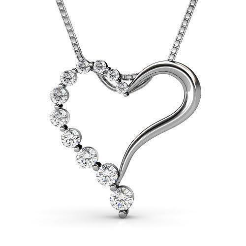 0.30 CT Round Cut Diamonds - Heart Pendant