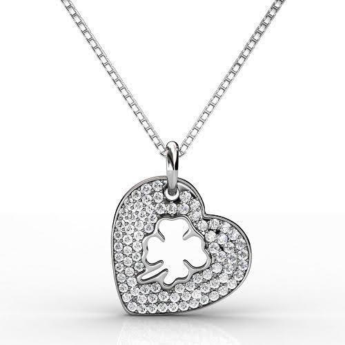 0.40 CT Round Cut Diamonds - Heart Pendant