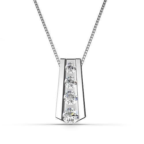 0.65 CT Round Cut Diamonds - Diamond Pendant