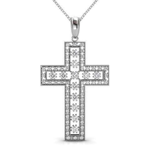 0.55 CT Round Cut Diamonds - Diamond Pendant