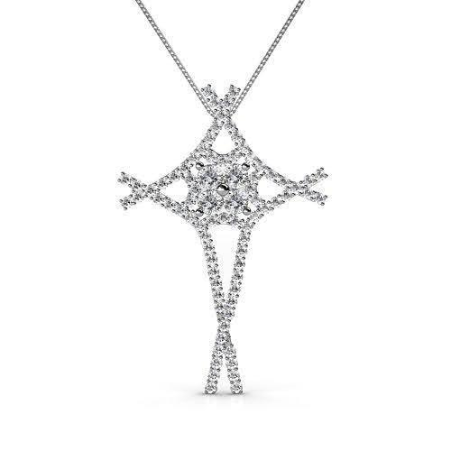 1.00 CT Round Cut Diamonds - Diamond Pendant