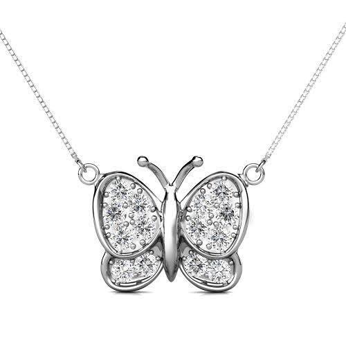 0.70 CT Round Cut Diamonds - Diamond Pendant