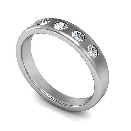 0.75 CT Round Cut Diamonds - Mens Wedding Band